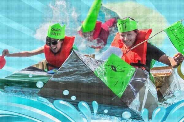 Cardboard Boat Build Challenge