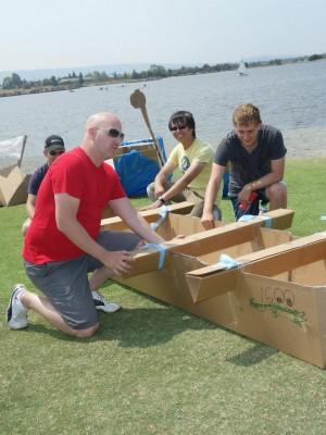 Google Team Building Event Boat Build