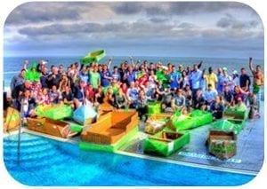 Team Bonding Activities Cardboard Boat Build